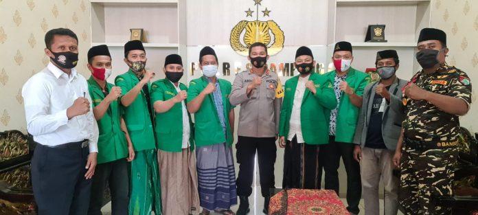 Anjangsana PC GP Ansor Sampang Kepada Kapolres