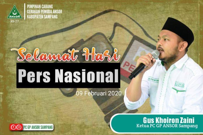 Ucapan HPN 2020 Datang Pula Dari PC GP Ansor Sampang